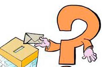 interrogación votando