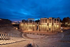 Foto bella de teatro romano de mérida, españa