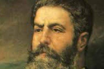 Pintura retrato de Joaquín costa para artículo político