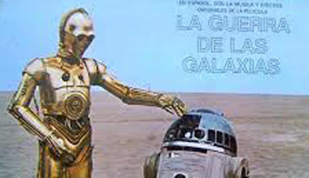 La guerra de las galaxias, rdd2 y c3po en el desierto