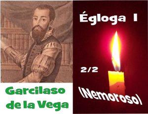 Retrato de Garcilaso de la Vega en una fotocomposición para un poema recitado, Egloga I