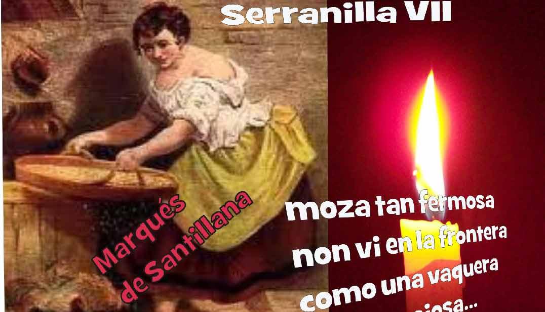 imagen de cuadro, pintura de mujer con texto de un anuncio de la serranilla, poema del marques de Santillana en el blog literario lluvia en el mar