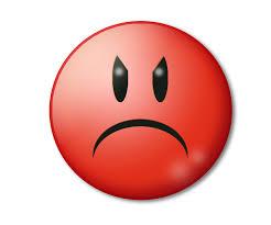 Imagen de emoticono enfadado con cara roja