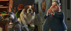 Personajes malvados, perro alcide y director de refugio perros en la película Ozzy, en el artículo de crítica del blog literario