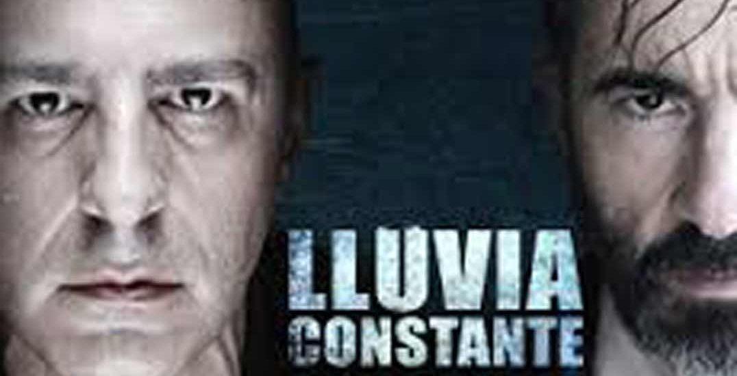 Pepe Ocio y Roberto Alamo en Lluvia constante, de Keith Huff, cartel