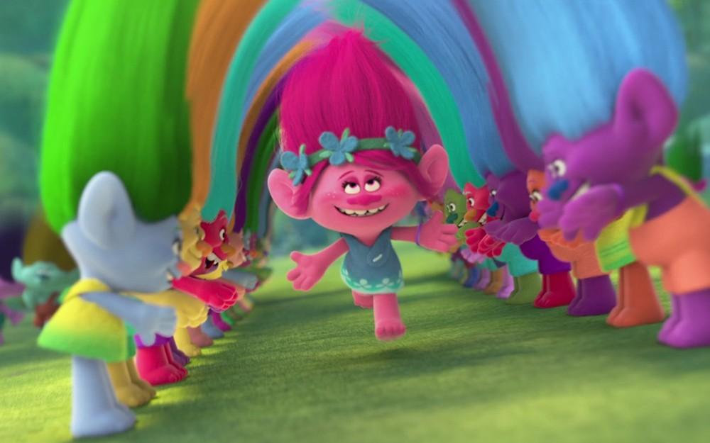 poppy, personaje de Trolas, en una escena