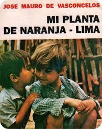 porta da de la novela mi planta de naranja lima, con foto de dos niños, uno hablándole al oído a otro
