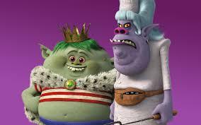 Chef y el rey de los Bergens, personajes de la película de dibujos Trolls, de Dreamworks