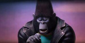 Johnny, gorila cantando, personaje de Canta, película de dibujos