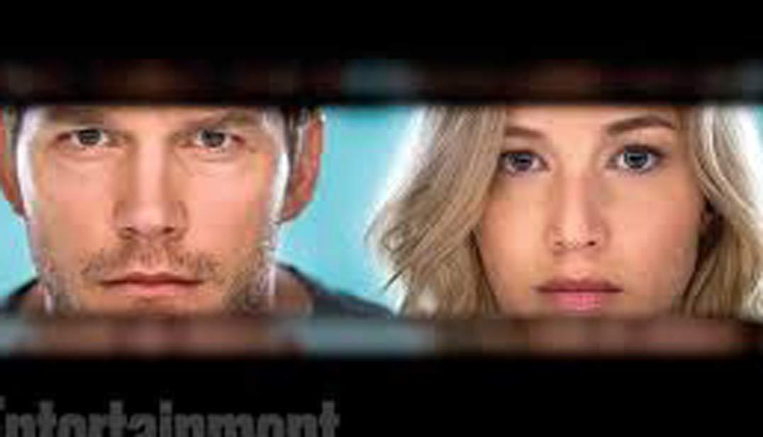 Passengers, protagonistas, JESSICA LAWRENCE y Chris Pratt, cartel