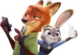 coneja y zorro, personajes de zootropolis