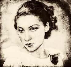 Clarise LIspector, foto en sepia, tratada, artística