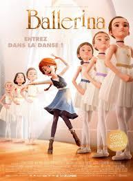 escena de Ballerina, película de dibujos, personajes en la barra y felicia vestida de modo diferente se sale de la fila