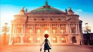 escena de Ballerina, película de dibujos, teatro de la ópera de paris