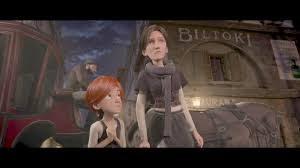 escena de Ballerina, película de dibujos, felicia mirando a su profesora, una bailarina coja