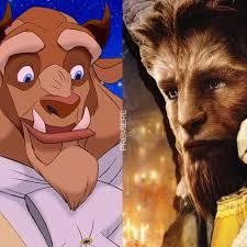 La bestia, personaje de dibujos y digital de la bella y la bestia de Disney