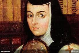Rostro detalle pintura cuadro de sor Juana Inés de la Cruz
