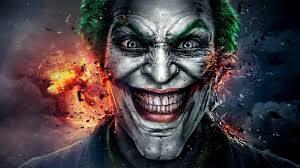 imagen de comic, rostro en primer plano de joker