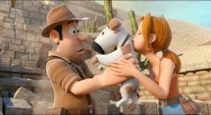 Tadeo, Sara y perro #TadeoJones2 #blogliterariolluviaenelmar