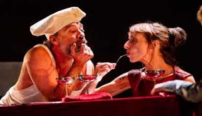 Escena de Tito Andrónico de William Shakespeare, Festival de Mérida 2019